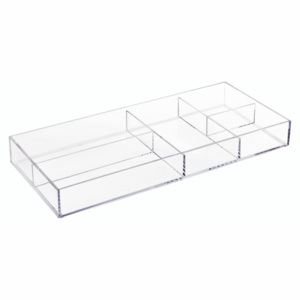 Organizator transparent iDesign Clarity, 40,6 x 17,8 cm