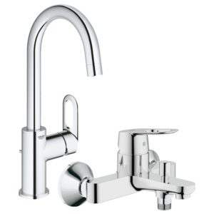 Pachet: Baterie baie cada/dus Grohe Bauloop-23341000 + Baterie lavoar Grohe Bauloop L size-23763000