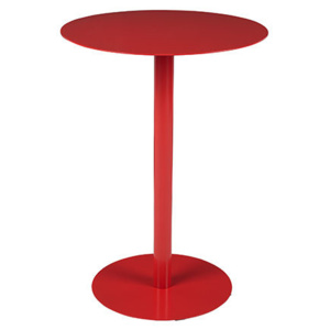 Masa cafea metal rosu Ø40 cm Elvi Red White Label