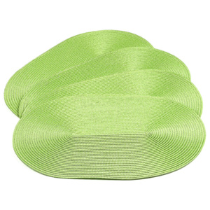 Suport farfurie Deco, rotund, verde, 30 x 45 cm, set 4 buc