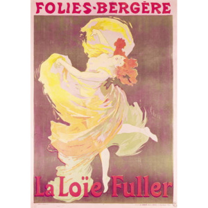 Poster advertising Loie Fuller (1862-1928) at the Folies Bergere, 1897 Reproducere, Jules Cheret