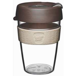 Cană de voiaj cu capac KeepCup Clear Edition Aroma, 340 ml