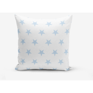 Față de pernă cu amestec din bumbac Minimalist Cushion Covers Light Blue Star, 45 x 45 cm