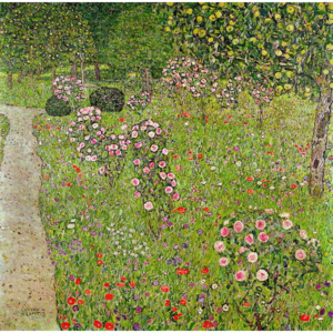 Orchard with roses Reproducere, Gustav Klimt
