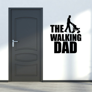 GLIX The walking dad - autocolant de perete Negru 30x35 cm