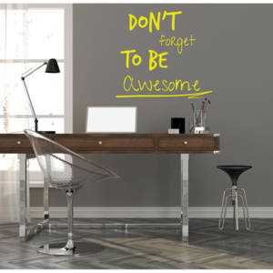 GLIX Don't forget to be awesome - autocolant de perete Galben 35x30 cm