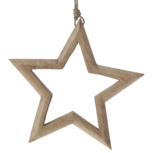 Decoratiune Craciun din lemn Star-Shape