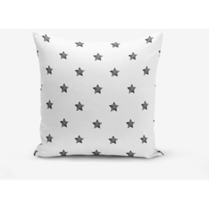Față de pernă cu amestec din bumbac Minimalist Cushion Covers White Background Star, 45 x 45 cm, negru - alb