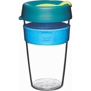 Cană de voiaj cu capac KeepCup Clear Edition Ozone, 454 ml
