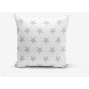 Față de pernă cu amestec din bumbac Minimalist Cushion Covers Light Grey Star Modern, 45 x 45 cm