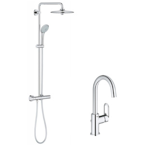 Pachet: Coloana dus Grohe Euphoria 260-27296002, Baterie lavoar Grohe Bauloop-23763000
