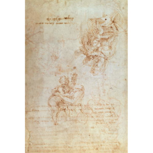 Studies of Madonna and Child Reproducere, Michelangelo Buonarroti
