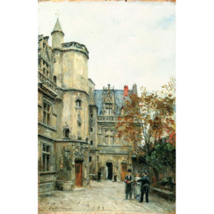 The Courtyard of the Museum of Cluny, c.1878-80 Reproducere, Stanislas Victor Edouard Lepine