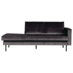 Canapea gri din catifea Rodeo Daybed Right Be Pure Home
