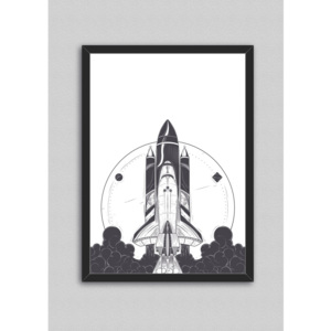 Poster cu ramă North Carolina Scandinavian Home Decors Space