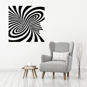 Sticker perete Optical Illusion Square