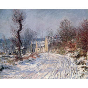The Road to Giverny, Winter, 1885 Reproducere, Claude Monet