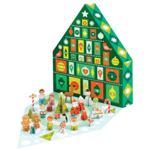 Calendar advent cu 24 figurine pliabile Petit collage Tree