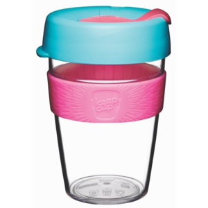 Cană de voiaj cu capac KeepCup Clear Edition Radiant, 340 ml