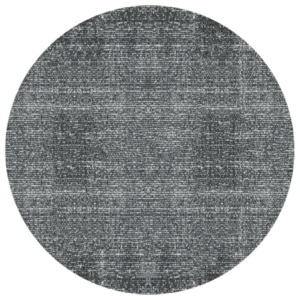 Covor rotund PT LIVING Washed Cotton, ⌀ 150 cm, gri-negru
