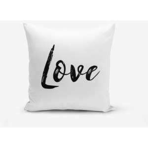 Față de pernă Minimalist Cushion Covers Love Writing, 45 x 45 cm
