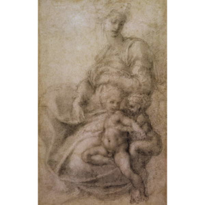The Virgin and Child with the infant Baptist, c.1530 Reproducere, Michelangelo Buonarroti