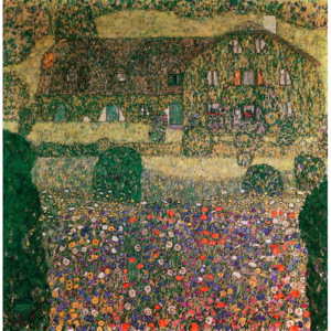 Country House by the Attersee, c.1914 Reproducere, Gustav Klimt