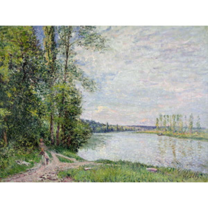 The Riverside Road from Veneux to Thomery, 1880 Reproducere, Alfred Sisley