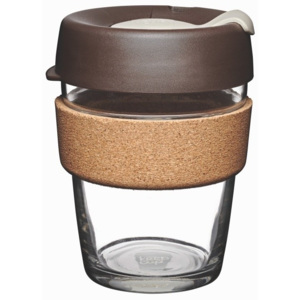 Cană de voiaj cu capac KeepCup Brew Cork Edition Almond, 340 ml