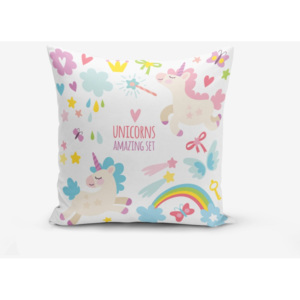 Față de pernă cu amestec din bumbac Minimalist Cushion Covers Unicorn Child, 45 x 45 cm