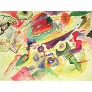 Watercolour with a Red Stain, 1911 Reproducere, Wassily Kandinsky