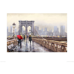 Richard Macneil - Brooklyn Bridge Reproducere, (80 x 60 cm)