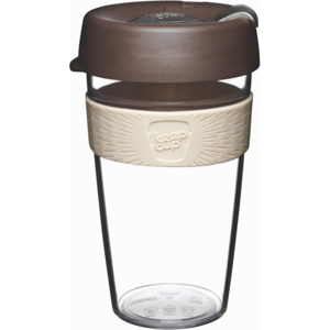 Cană de voiaj cu capac KeepCup Clear Edition Aroma, 454 ml
