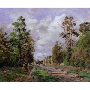The road to Louveciennes at the edge of the wood, 1871 Reproducere, Camille Pissarro