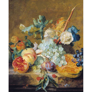 Flowers and Fruit Reproducere, Jan van Huysum
