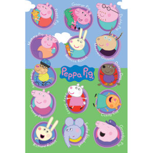 Peppa Pig - Multi Characters Poster, (61 x 91,5 cm)