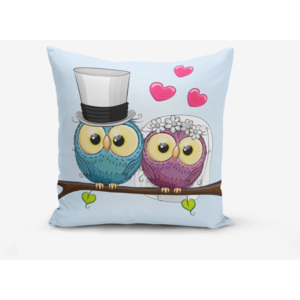 Față de pernă Minimalist Cushion Covers Fall In Love Owls, 45 x 45 cm
