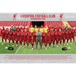 Liverpool FC - Team Photo 18-19 Poster, (91,5 x 61 cm)