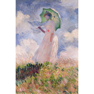 Woman with Parasol turned to the Left, 1886 Reproducere, Claude Monet