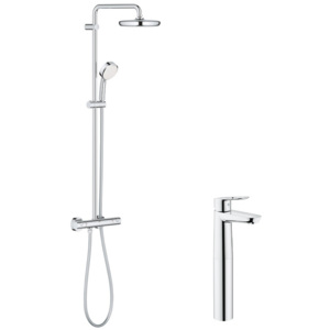 Pachet: Coloana dus Grohe New Tempesta 210-27922001, Baterie lavoar montare pe blat Grohe Bauloop XL-23764000