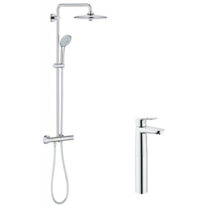 Pachet: Coloana dus Grohe Euphoria 260-27296002, Baterie lavoar Grohe Bauloop XL size-23764000