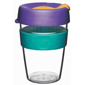 Cană de voiaj cu capac KeepCup Clear Edition Reef, 340 ml