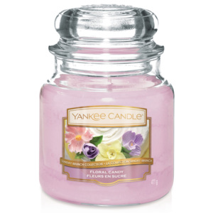 Yankee Candle lumanare roz parfumata Floral Candy Classic mijlocie