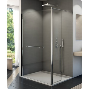PROMO Cabina dus Walk-in SanSwiss Fun FUD2 100 x 40 x H200 cm sticla securizata