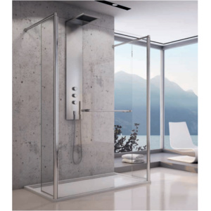 Cabina dus Walk-in SanSwiss Fun FUT2 120 x H200 cm sticla securizata