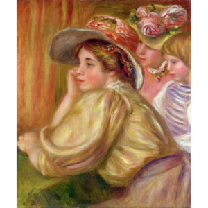 Coco and the two servants, 1910 Reproducere, Pierre Auguste Renoir