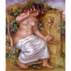 The Bather at the Fountain, 1914 Reproducere, Pierre Auguste Renoir