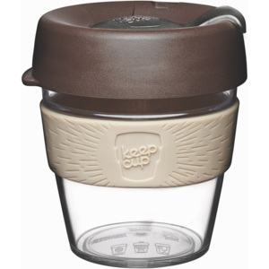 Cană de voiaj cu capac KeepCup Clear Edition Aroma, 227 ml