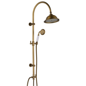 Coloana dus retro CasaBlanca EPOQUE BEP01, finisaj bronz satinat