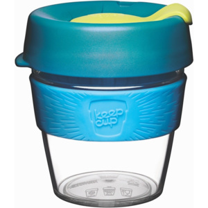 Cană de voiaj cu capac KeepCup Clear Edition Ozone, 227 ml